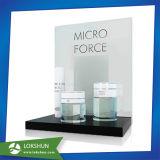 La pantalla de acrílico en forma de L está a favor de los cosméticos, Custom Retail cosmética acrílico Mostrar Fabricante China