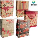 Настроить хорошего дизайнера коричневый крафт-бумаги для печати по утилизации мешок для упаковки Новогодние подарки