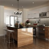 Muebles de cocina americana de arce de madera sólida mueble de cocina china