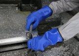 Устойчивость к химической безопасности Coldproof ПВХ рабочие перчатки с флис тормозных колодок