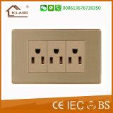 Presa di corrente elettrica della parete della presa a parete gemellare
