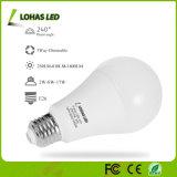 bombilla de tres vías equivalente de las bombillas 2W-8W-17W Dimmable LED de 25With60With100W A19 LED
