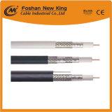 Câble coaxial de liaison triple tressé fiable de l'écran protecteur Rg59 de l'usine 95% avec le certificat de Ce/CPR/RoHS