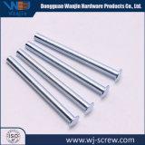 China bildete überzogenen geläufigen runden Aluminiumstahlschrauben-Nagel