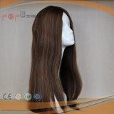 Peluca superior de seda vendedora caliente del estilo del pelo brasileño (PPG-l-0181)