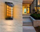 Indicatore luminoso esterno alimentato solare della parete del LED