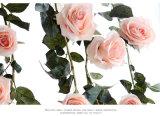 De Slinger die van de KLIMOP van Flowerking de Plastic Wijnstokken van de Decoratie van het Huwelijk van de Bloesem van de Aanraking van de KLIMOP Echte hangen nam Valse Kunstbloem Wisteria toe