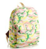 Sac à dos de type d'impression floral, camouflage et sac mignon de loisirs de vent d'université de sac à dos de série de dessin animé de série de léopard