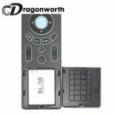 Teclado y mouse Bluetooth T6 Blanco retroiluminada Mini para Android TV Box Remotewith RF a 2,4 Ghz