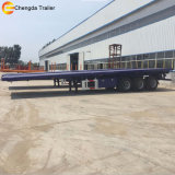 Reboque Flatbed de 3 chassis do recipiente do eixo 40FT