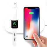 2 en 1 Plegable cargador inalámbrico de carga inalámbrica Qi Pad para Apple Ver 7.5W cargador inalámbrico rápido para el iPhone x