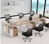 Estação Linear de mesa do escritório, revestimento em pó Steel-Legs Mesa de escritório