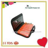 Cuir d'unité centrale de cahier de compartiments du Portable 28 7 récipients en plastique de cadre de mémoire de Vtamin de pillule de jour