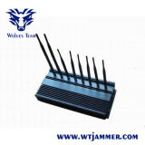 8 Bandes GSM haute puissance 3G / 4G Téléphone WiFi GPS Lojack Jammer VHF UHF