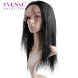 イボンヌの卸売100%の人間のバージンの中国の毛の完全なレースのかつらの自然でまっすぐなカラー1b