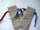 Bourse de jute de cordon petite, poche de renvoi d'emballage de charme (GZHY-dB-016)