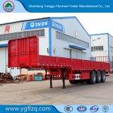 거위 목 모양의 관 유형 반 50ton 측벽 또는 측 하락 또는 옆 널 또는 대량 화물 트럭 트레일러