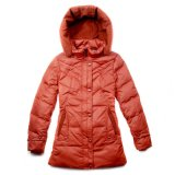 100% nylon 380t de tafetán para abajo chaqueta con efecto crepé