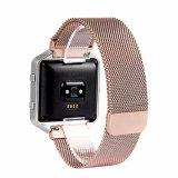 Bracelet de montre magnétique de boucle milanaise pour la flamme de Fitbit, bande de montre en métal de maille pour Fitbit