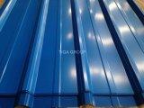 Revêtement ondulé de mur de toiture en métal de couleur de feuille de toit de PPGI