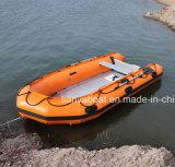 Barca gonfiabile pieghevole della piattaforma di Liya 2-6.5m della piattaforma di alluminio poco costosa del compensato