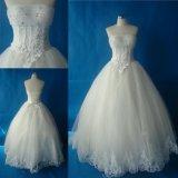 Без бретелек тяжелое отбортовывая платье венчания платьев мантии шарика кристаллов Bridal