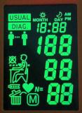 Indicador do LCD da roda denteada dos gráficos FSTN dos caráteres do toque