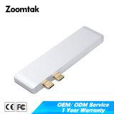 Typ C Qualität USB-3.0 zu 2 Port-USB3.0 mit Palladium-Typen c-Ladung-Nabe für MacBook