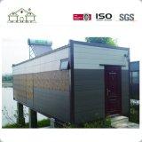 Bewegliches Flachgehäuse-modernes helles Stahlfertigbehälter-Haus
