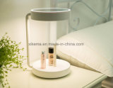 Espejo cosmético del vector con las luces alrededor de la lámpara de vector elegante del LED