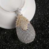 Fashion femmes plaqué or Bijoux Set avec Earrings anneau Pengdant