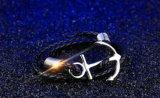 Regalo di cuoio nero del partito dei monili delle donne dei braccialetti di fascino dei braccialetti dell'ancoraggio dell'annata