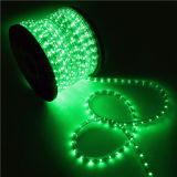 Corde de lumière LED IP65 Voyant vert 110V Utilisation intérieure et extérieure 11mm