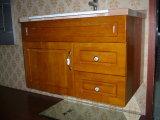 Gabinete clássico da vaidade do estilo da madeira contínua (W-0011)
