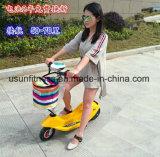 Мотовелосипед дешевой складчатости электрический с корзиной
