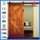 Дверь амбара мельчайшего пожара белизны 30 Rated деревянная сползая (JHK-SK09)