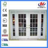 Двери одиночных интерьеров кафа Antique листьев стеклянные (JHK-G24)