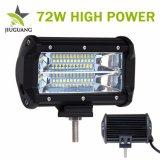 Coche de la carcasa de aluminio LED de 4X4 de la barra de luces de conducción, de 12 voltios 5 pulgadas de 72W LED Barra de luz mayorista offroad