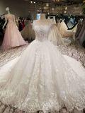 Vestido de casamento de cristal do vestido de esfera do laço