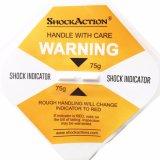 Etiqueta engomada fácil de utilizar del sensor de la vibración del indicador del choque