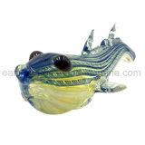 Fugu/Globefish-/Ballon-Fisch-Streifen-Entwurfs-Glashandrohr (ES-HP-146)