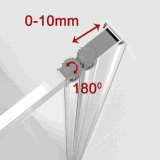 1 Falz-Rahmen-Badewannen-Wanne-Bildschirm-Tür