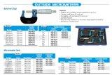 0-100 mm fuera de los conjuntos de micrómetro 4pcs/Set