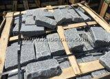 Темно-серый гранит откинуть мощеной/куб Pavers точильного камня