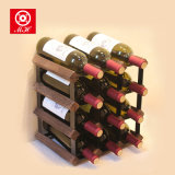 12-48 crémaillère d'étalage cubique de vin de crémaillère en bois classique de vin de bouteille