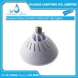 12V 120V 18W 220V 24W 35W Multicolor LED PAR56 E27 de la luz de la piscina para el aparejo de Pentair Hayward