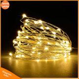 Ghirlanda solare della lampada della decorazione della festa nuziale di natale del collegare di rame degli indicatori luminosi di natale dell'indicatore luminoso leggiadramente della lampada della stringa 10m 100 LED