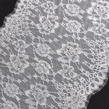 Weiße chinesische Jacquardwebstuhl-Spitze-Ineinander greifen-Textilfranzose-Spitze