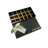 Rectángulo de papel de empaquetado plegable del regalo del chocolate de la cartulina de lujo
