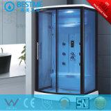 Une douche de vapeur en bleu du boîtier en verre trempé (Ko-857)